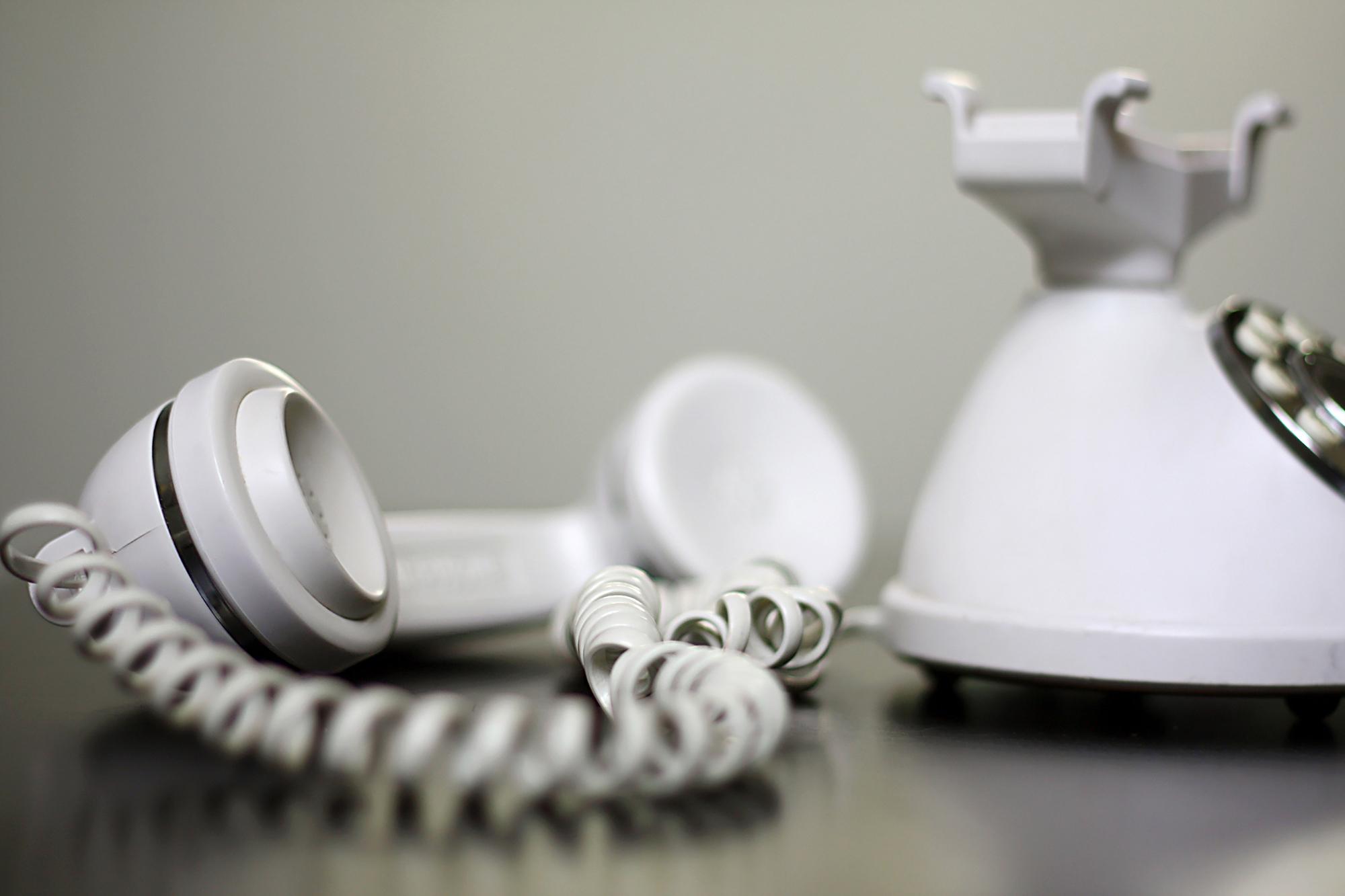 Home telephone service - white phone